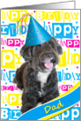 Dad Birthday Card - Fun Smiley Dog card