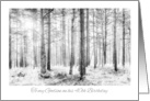 Godson 40th Birthday Card - Black and White Sunlit Forest Trees card