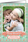 Christmas Photo Card - Christmas Trees and Polka Dots card