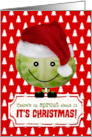 Funny Christmas Card - The Happy Christmas Sprout card