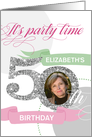 50th Birthday Party Invitation - Add Your Own Photo and Text card