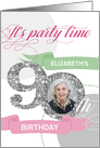 90th Birthday Party Invitation - Add Your Own Photo and Text card