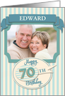 Custom 70th Birthday Card - Add Your Own Name and Photo card