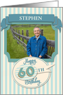 Custom 60th Birthday Card - Add Your Own Name and Photo card
