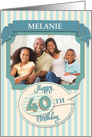 Custom 40th Birthday Card - Add Your Own Name and Photo card