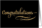 Congratulations Greeting Card - Gold Sparkle Effect card
