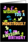 Fun Birthday Card - Colorful Little Monsters card