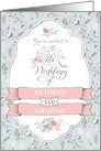 Vintage Wedding Invitation - Add Your Own Names - Pretty Flowers card