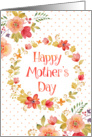 Mother's Day Card For Mom - Watercolor Flowers and Polka Dots card