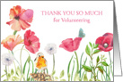 Thank You for Volunteeting Card - Nature in Watercolors card