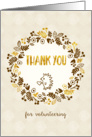 Thank You for Volunteering Card - Pretty Little Nature card