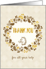 Thank You for All Your Help Card - Pretty Little Nature card
