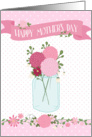 Mother's Day Card - Flowers in a Jar and Polka Dots card