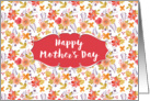 Mother's Day Card - Pretty Orange Flowers card