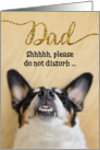 Funny Fathers Day Card - Dog With Goofy Grin card