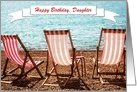 Customizable Birthday Card - Add Your OwnText - Sun Sea and Deckchairs card