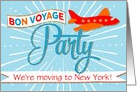 Bon Voyage Party Invitation Custom Text - Moving - Airplane Banner card