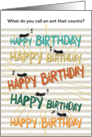Humorous Birthday Card for Accountant - Ant Antics card
