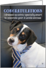 Humorous A Level Congratulations - Dog Wearing Smart Tie card