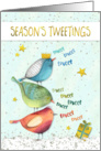 Funny Christmas Card - Seasons Tweetings card