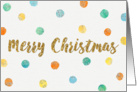 Christmas Card - Merry Christmas and Watercolor Spots card