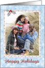 Custom Christmas Photo Card - Add Your Photo - Snow and Sparkle card