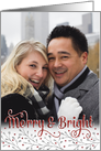 Custom Christmas Photo Card - Add Your Own Photo - Merry and Bright card