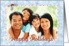Custom Christmas Photo Card - Add Your Photo - Snow and Sparkle Effect card
