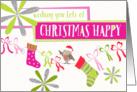 Fun Christmas Card - Colorful Christmas Happy card