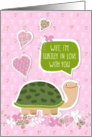 Funny Valentine's Day Card for Wife - Cute Turtle Cartoon card