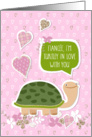 Funny Valentine's Day Card for Fiancee - Cute Turtle Cartoon card