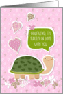 Funny Valentine's Day Card for Girlfriend - Cute Turtle Cartoon card