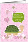 Funny Valentine's Day Card for Partner - Cute Turtle Cartoon card
