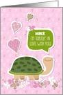 Funny Valentine's Day Card - Add Name - Cute Turtle Cartoon card