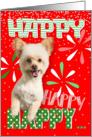 Happy Dog Christmas Card