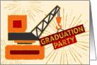 Graduation Party Invitation - Heavy Equipment Operator - Cream card