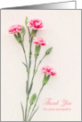 Thank You for Your Sympathy - Pink Peach Carnations card