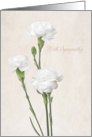 With Sympathy - White Carnations card