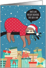 Funny Christmas Card - The Sloth Santa card