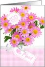 Mum 100th Birthday - Pink Flowers card