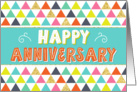 Employee Anniversary - Happy Anniversary and Colorful Pattern card