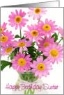 Sister Birthday Card - Pink Floral Abundance card