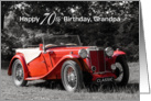 Grandpa 70th Birthday Card - Red Classic Car card