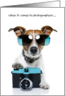 Fun Birthday Card for Photographer - Top Dog card