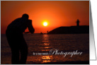 Photographer Birthday Card - Photographing the Sunset card