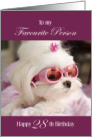 Birthday Card - Favourite Person 28 - Maltese Dog card
