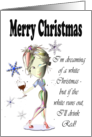 Funny Christmas Wine Card