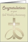 Congratulations on your Gold Wedding Anniversary Card