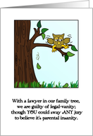 Happy Birthday Humor to Our Son, the Lawyer! card