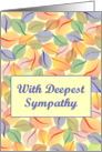 With Deepest Sympathy for Loss of Loving Pet - Leaves Are Turning card